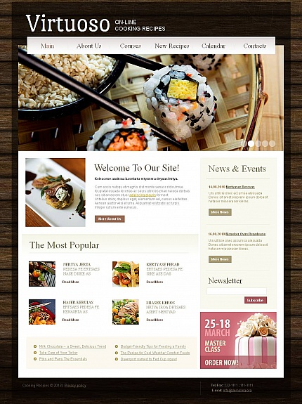 ADOBE Photoshop Template 44463 Home Page Screenshot