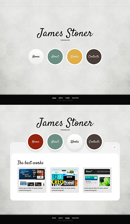 ADOBE Photoshop Template 44467 Home Page Screenshot