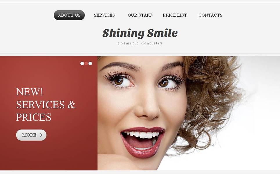 Modello Moto CMS HTML  #44468 per Un Sito di Odontoiatria New Screenshots BIG