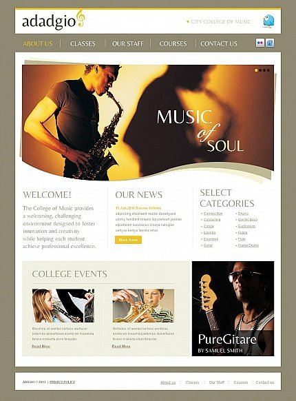 ADOBE Photoshop Template 44469 Home Page Screenshot