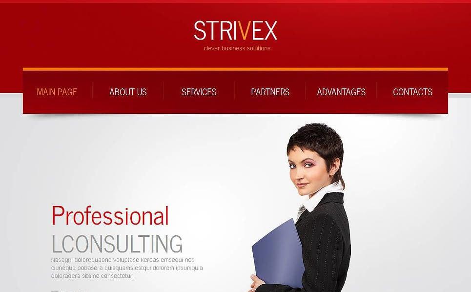 Plantilla Moto CMS HTML #44470 para Sitio de Consultoría New Screenshots BIG