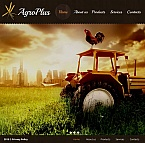 Agriculture Facebook HTML CMS  Template 44472