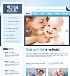 Medical Facebook HTML CMS  Template 44485