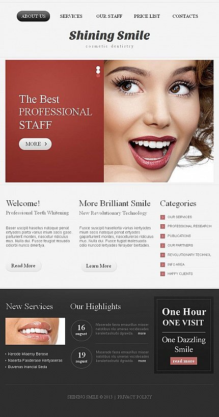 ADOBE Photoshop Template 44490 Home Page Screenshot
