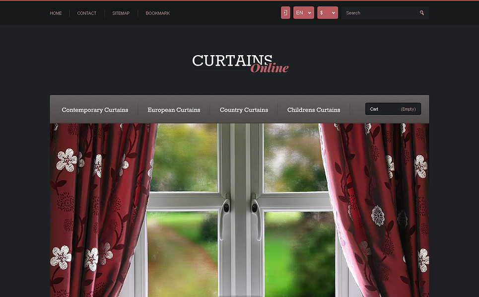 Responsives PrestaShop Theme für Fensterdekoration Homepage New Screenshots BIG