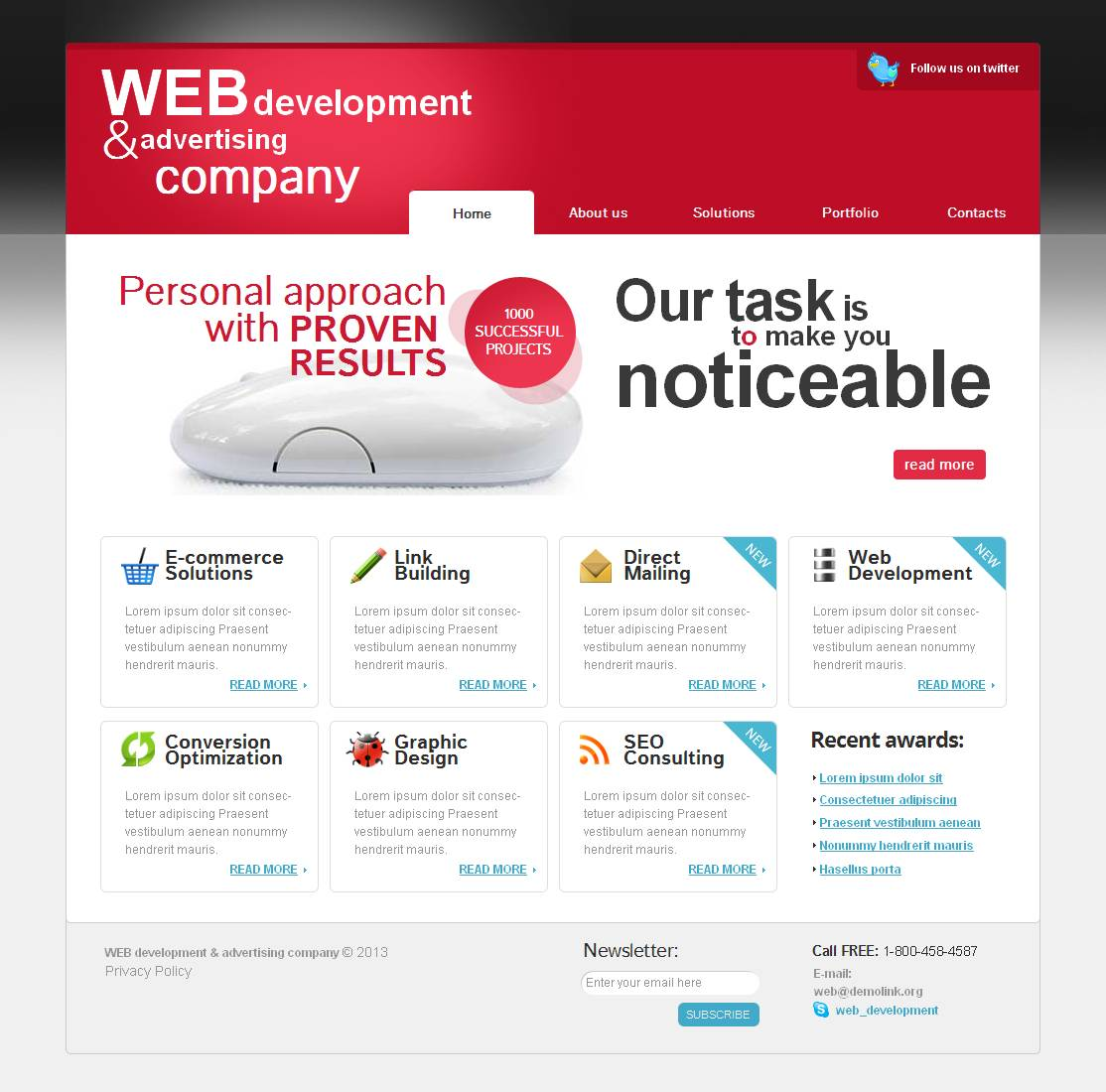 Advertising Agency Moto CMS HTML Template