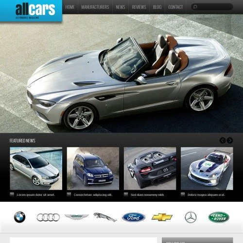 All Cars - HTML5 Drupal Template