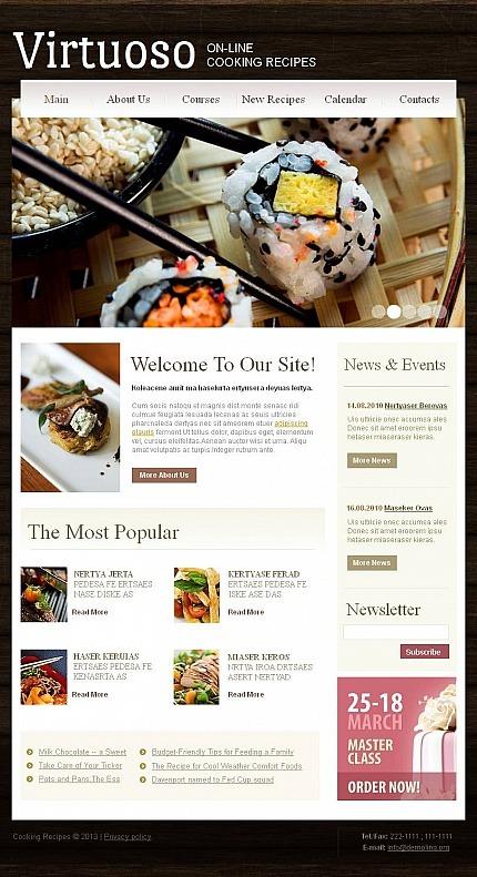 Cooking Facebook HTML CMS Template Facebook Screenshot