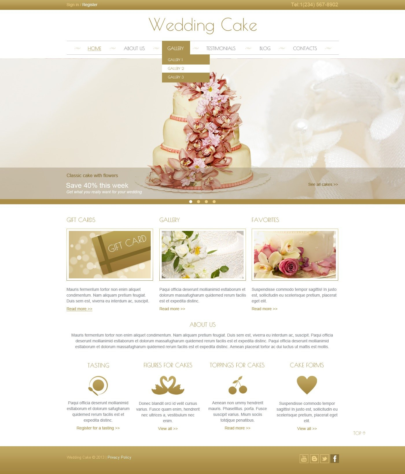 wedding cake site wedding cake joomla template 44444 24804