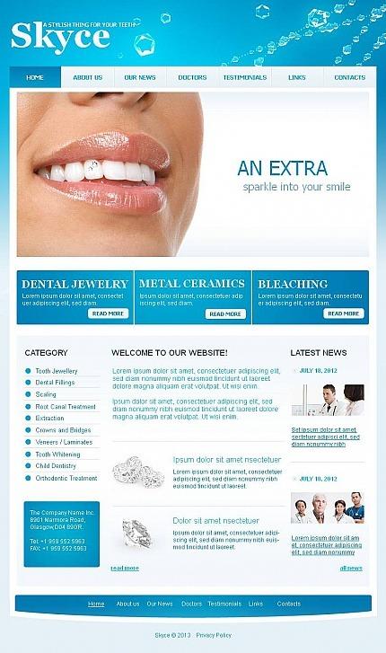 Dentistry Facebook HTML CMS Template Facebook Screenshot