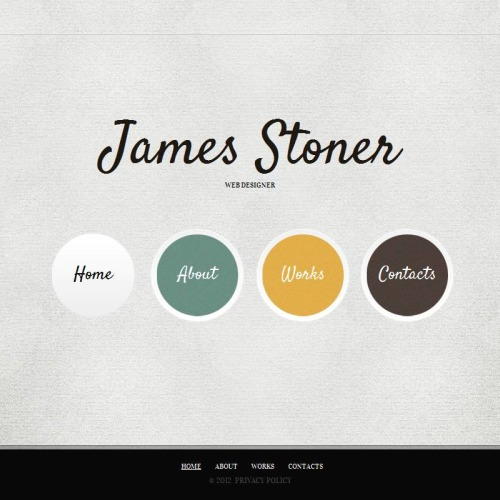 James Stoner  - Facebook HTML CMS Template