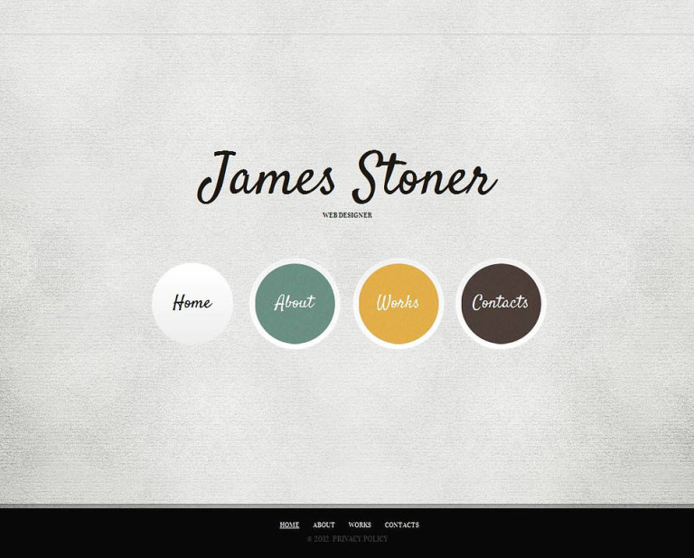 Designer Portfolio Moto CMS HTML Template New Screenshots BIG
