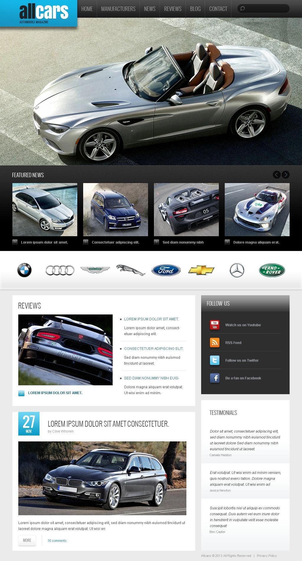 "Drupal Vorlage namens ""Automobilklub"" #44408"