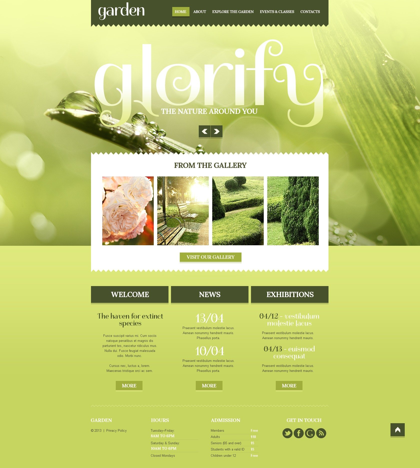 Garden design responsive website template 44401 for The landscape design site