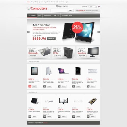 Computers - HTML5 ZenCart Template