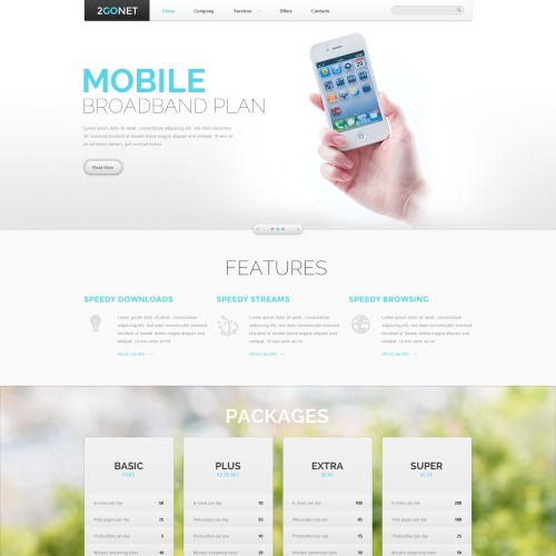 Mobile Broadband Plan - Website Template based on Bootstrap