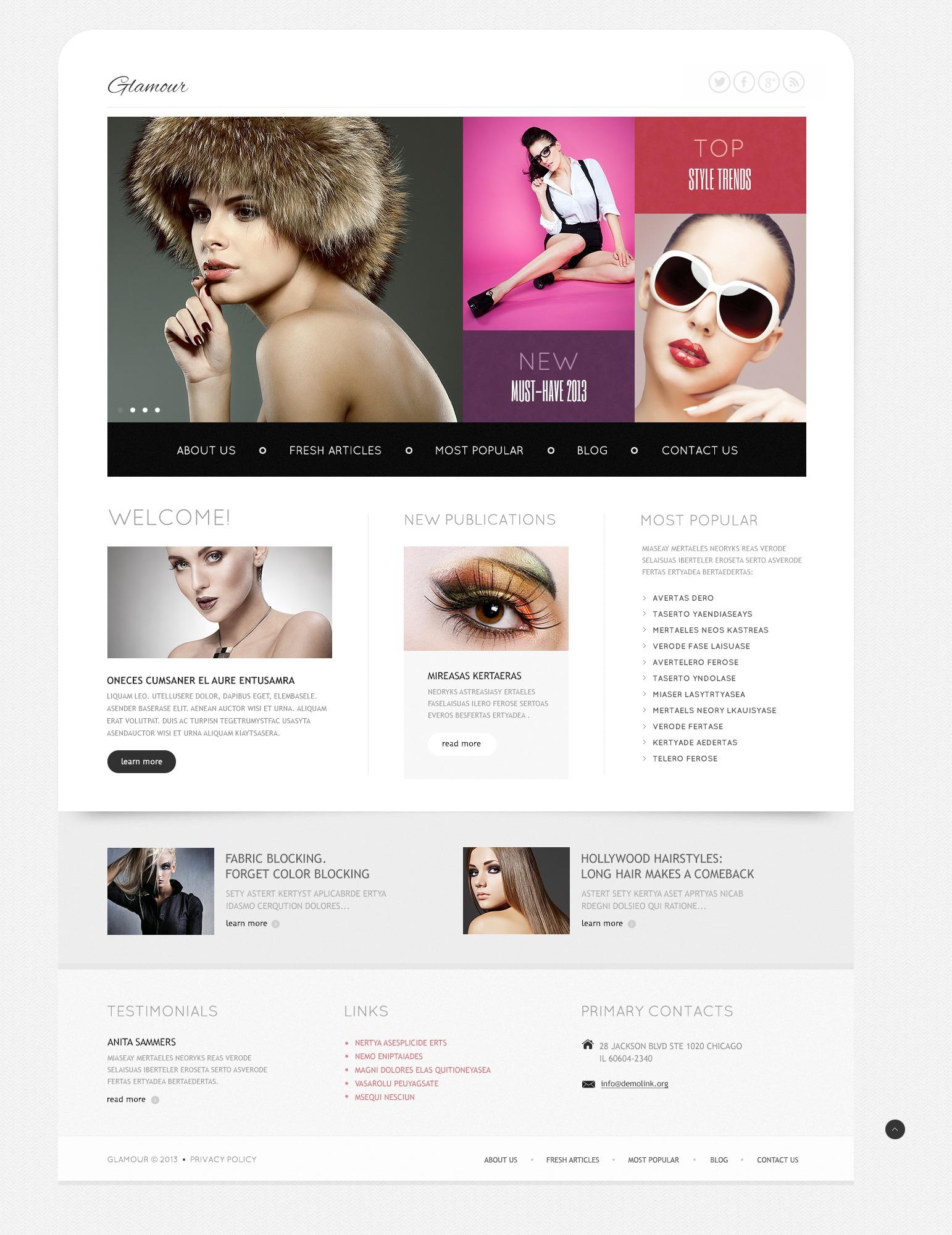 """Joomla Vorlage namens """"Modegeschäft"""" #44447 - Screenshot"""