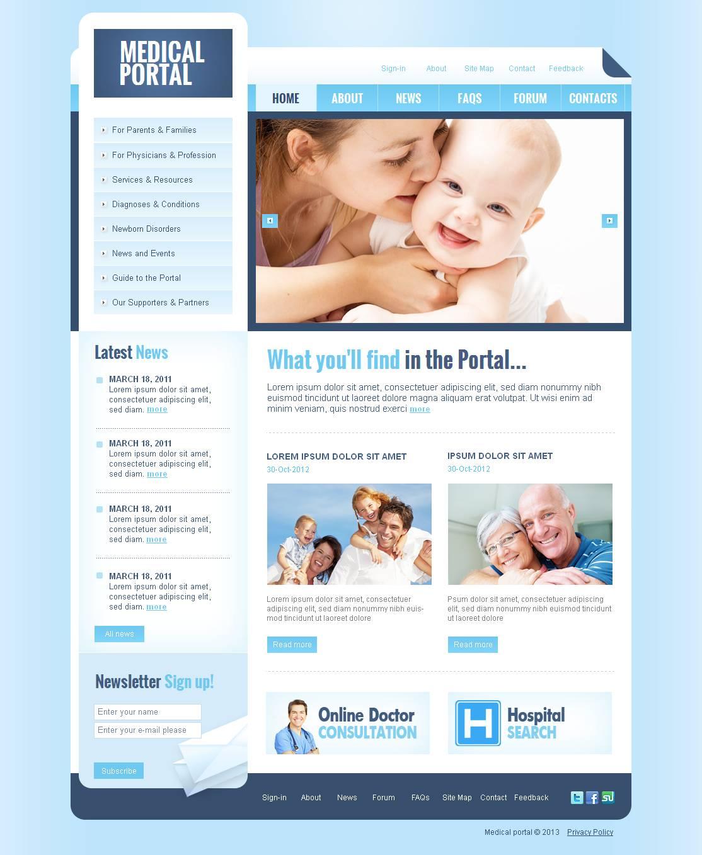 Luxusní Moto CMS HTML šablona na téma Zdravotní #44462