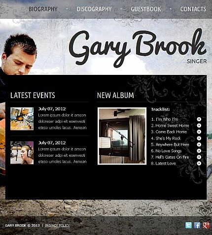 Music Store Facebook HTML CMS Template Facebook Screenshot