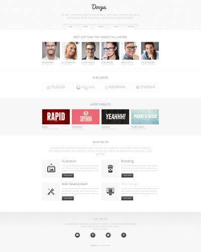 Outsourcing Company Drupal шаблон