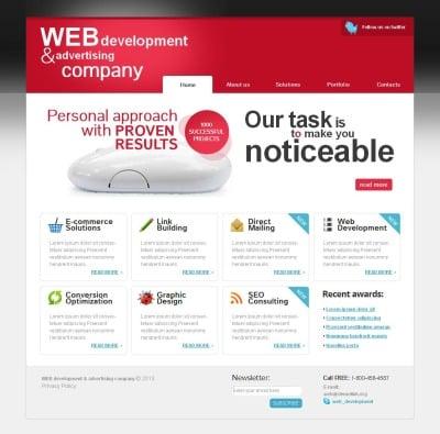 Plantilla Moto CMS HTML #44465 para Sitio de  para Sitio de Agencias de publicidad