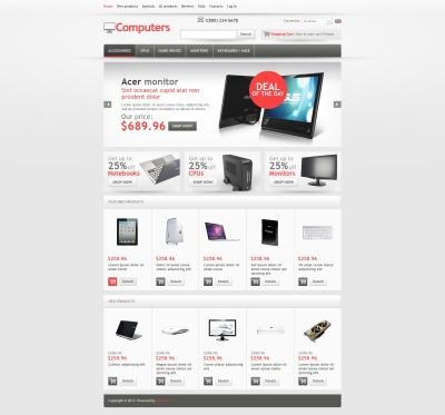Plantilla ZenCart #44409 para Sitio de  para Tienda de Ordenadores