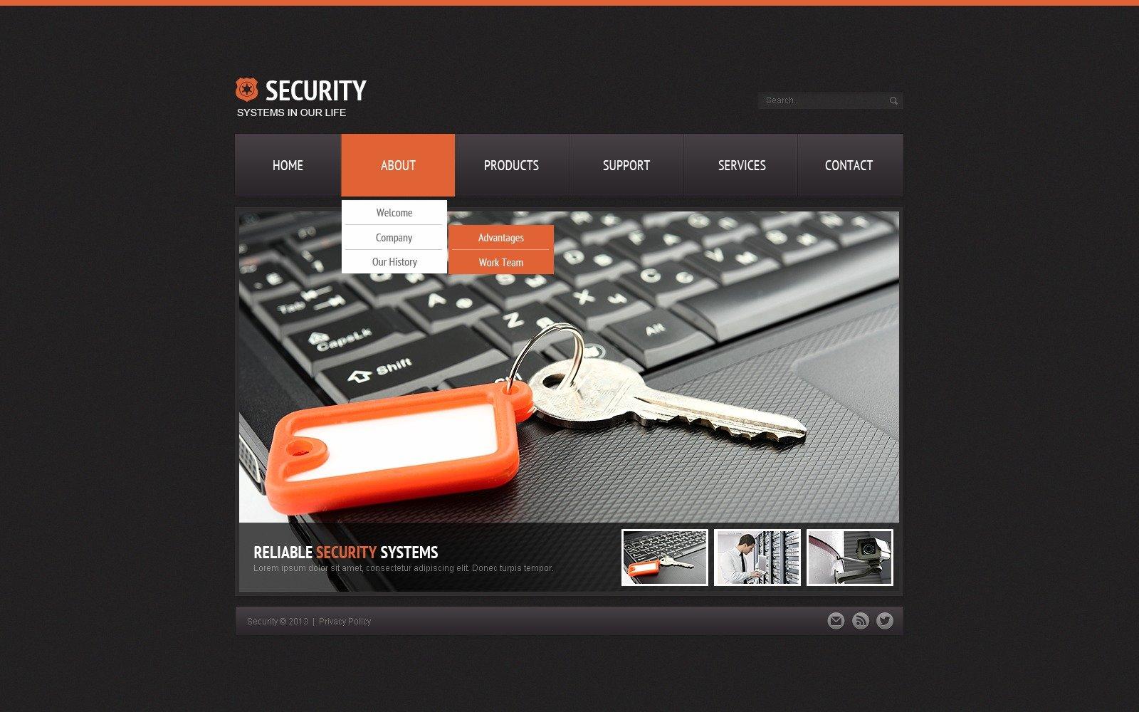 Security Website Template - screenshot