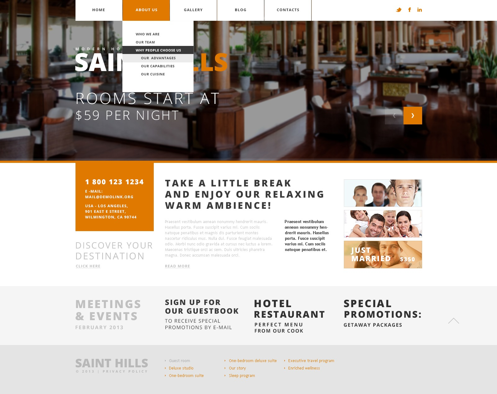 joomla hotel template - simple hotels joomla template 44418