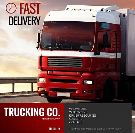 Trucking Facebook HTML CMS Template Facebook Screenshot