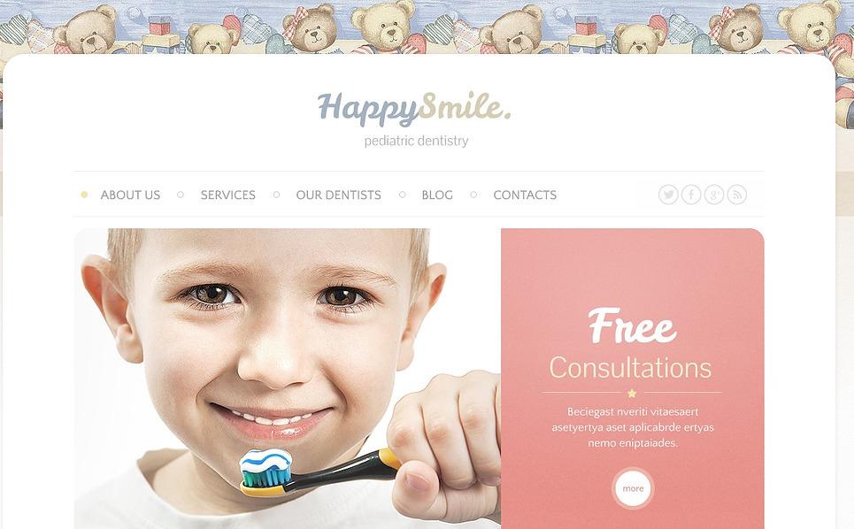 Responsywny szablon strony www #44500 na temat: stomatologia New Screenshots BIG