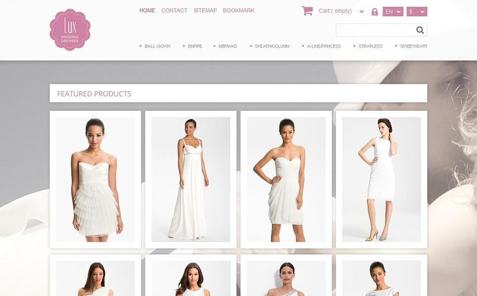 Reszponzív Esküvői bolt   PrestaShop sablon New Screenshots BIG