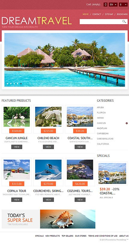 ADOBE Photoshop Template 44509 Home Page Screenshot