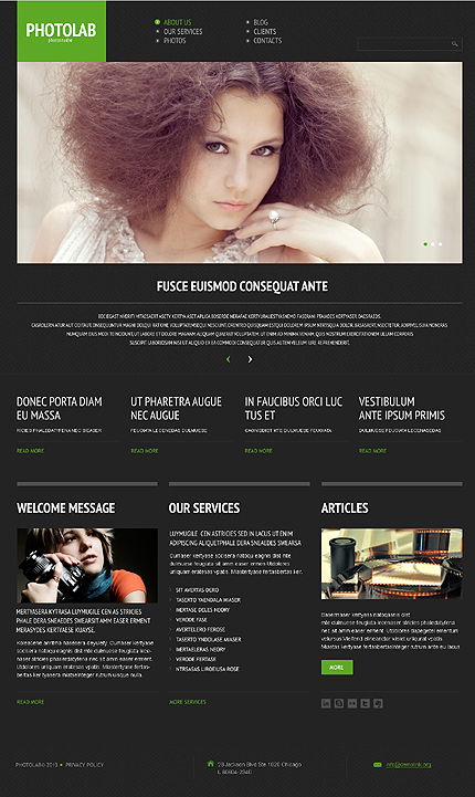 WordPress Theme/Template 44510 Main Page Screenshot