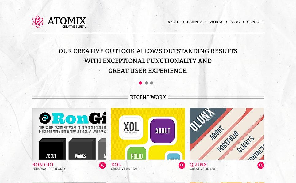 Modèle Flash CMS  pour site de studio de design New Screenshots BIG