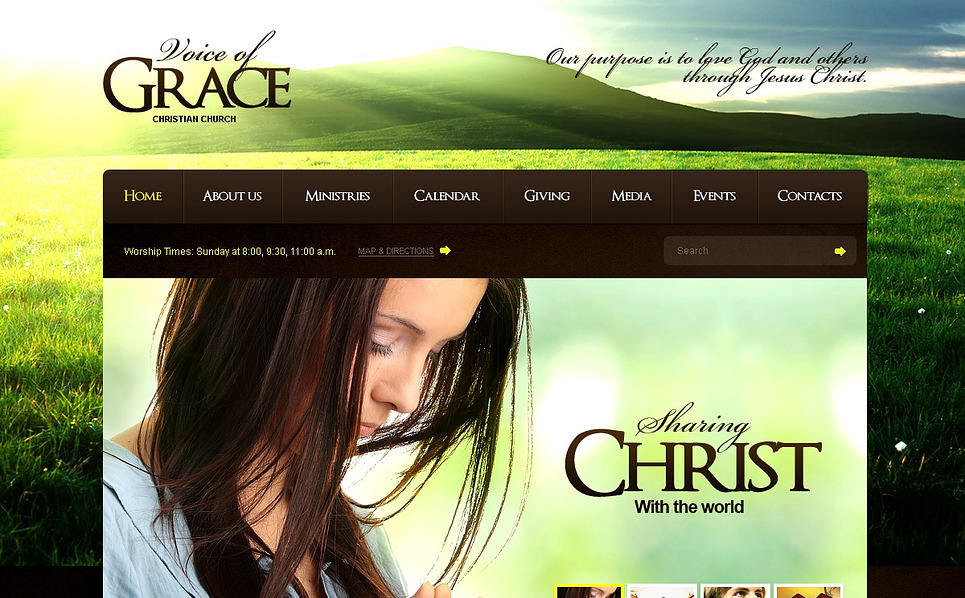 Premium Flash CMS Template over Christelijke  New Screenshots BIG