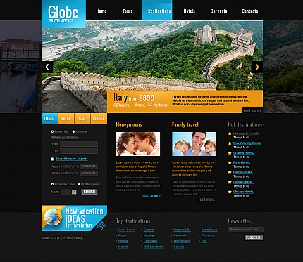 ADOBE Photoshop Template 44524 Home Page Screenshot