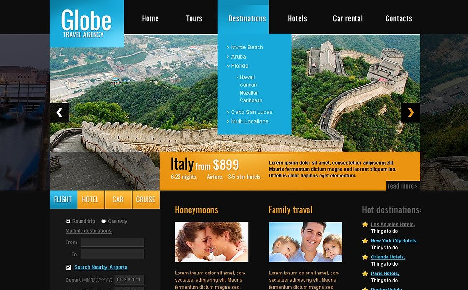 Premium Flash CMS Template over Reisbureau  New Screenshots BIG