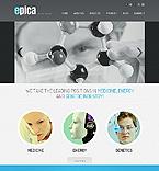 Science Website  Template 44529