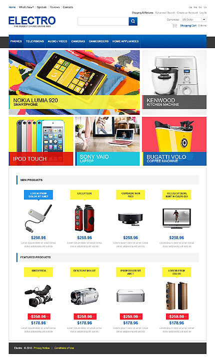 osCommerce Template 44550 Main Page Screenshot