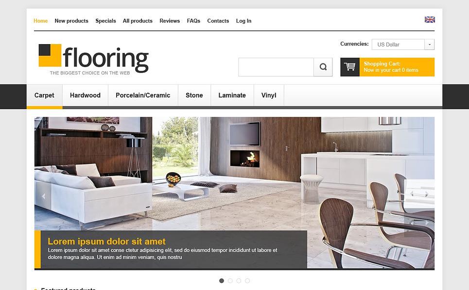 "ZenCart Vorlage namens ""Bodenbelag"" New Screenshots BIG"