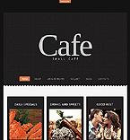 Cafe & Restaurant Joomla  Template 44559