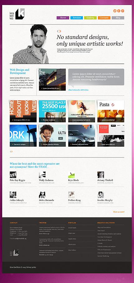 Joomla Theme/Template 44563 Main Page Screenshot