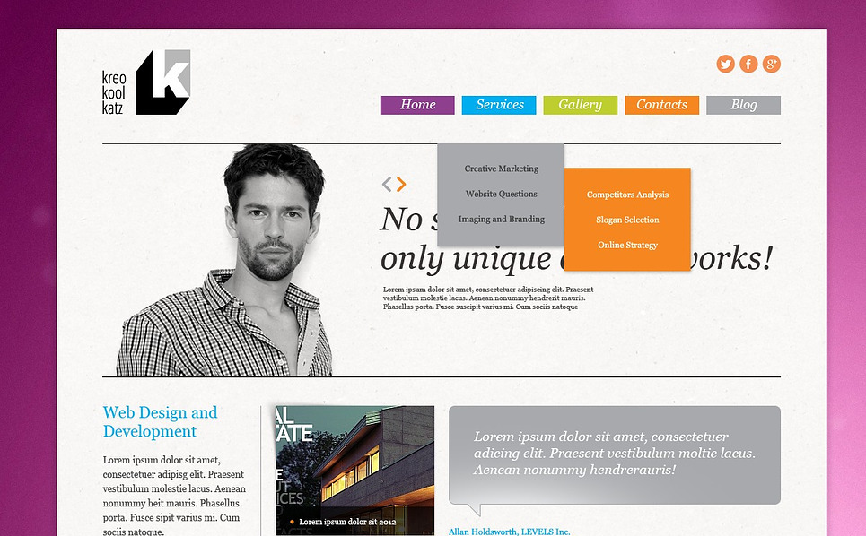 Responsywny szablon Joomla #44563 na temat: studio projektowe New Screenshots BIG