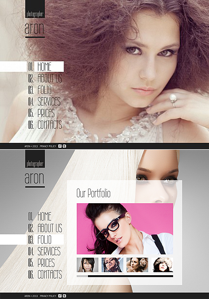 ADOBE Photoshop Template 44570 Home Page Screenshot