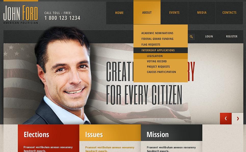 Responsive Siyasi Aday  Web Sitesi Şablonu New Screenshots BIG