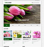 Flowers WordPress Template 44583