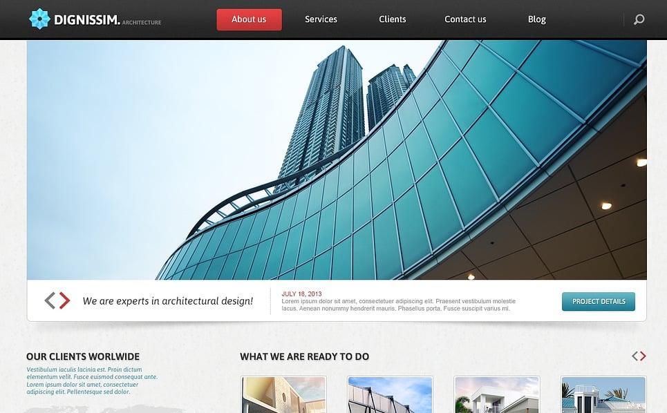 Responsywny szablon Joomla #44589 na temat: architektura New Screenshots BIG
