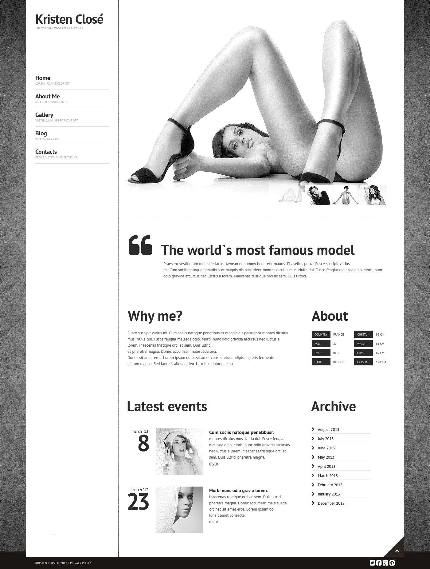 Адаптивный HTML шаблон №44544 на тему модельное агентство