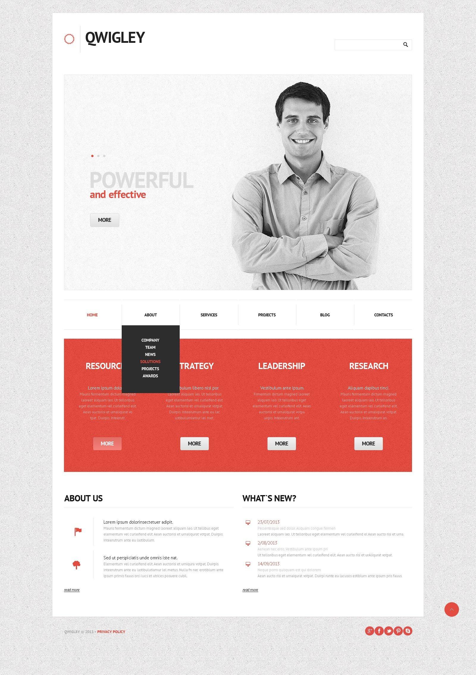 Business Analytics WordPress Theme - screenshot