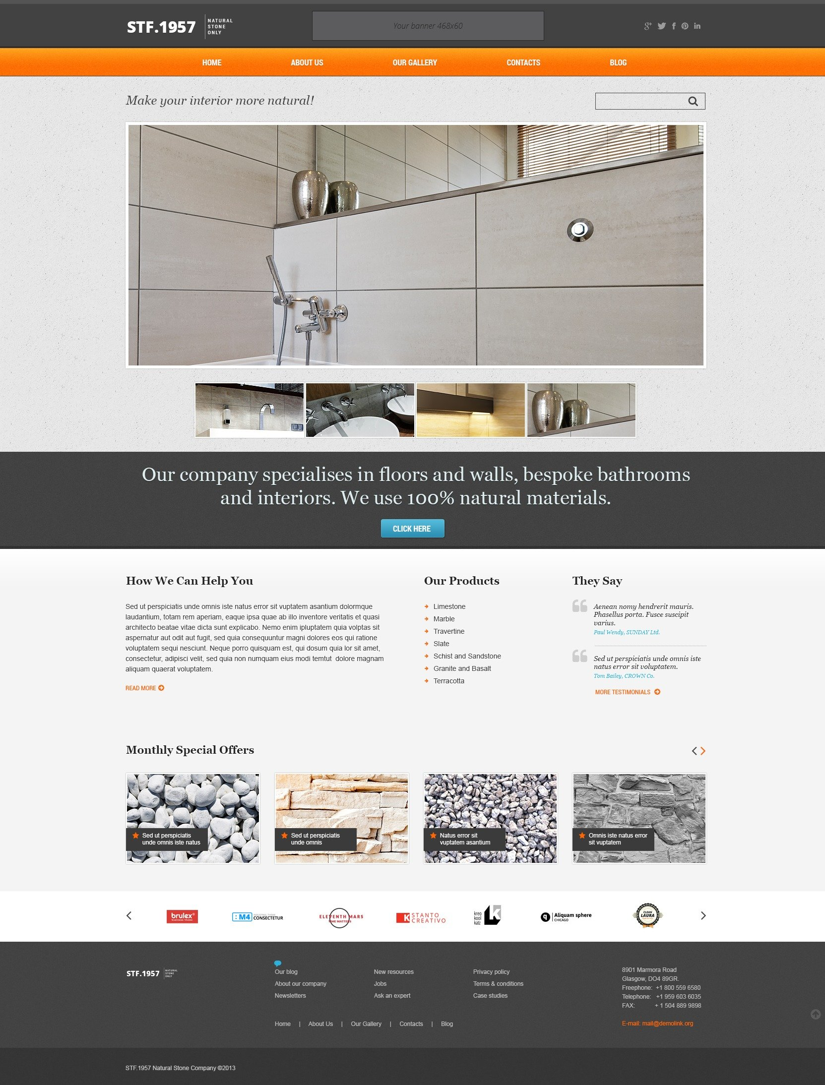 Elegant Flooring WordPress Theme #44505